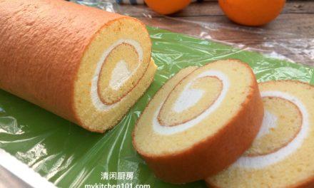 香橙瑞士卷蛋糕