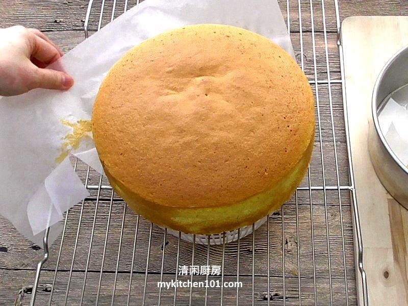 无香精香橙海绵蛋糕