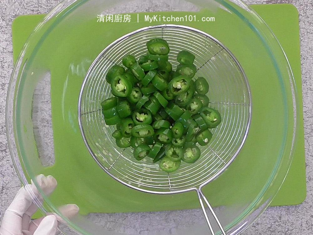 腌制青辣椒