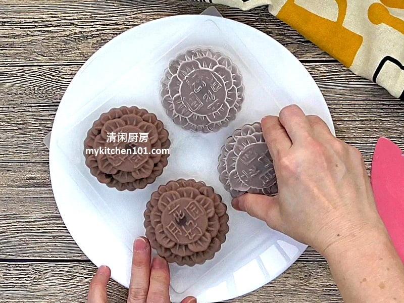 巧克力Agar-agar月饼