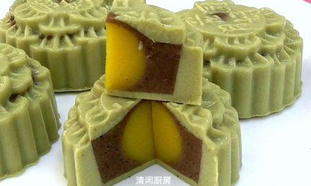 抹茶红豆燕菜月饼