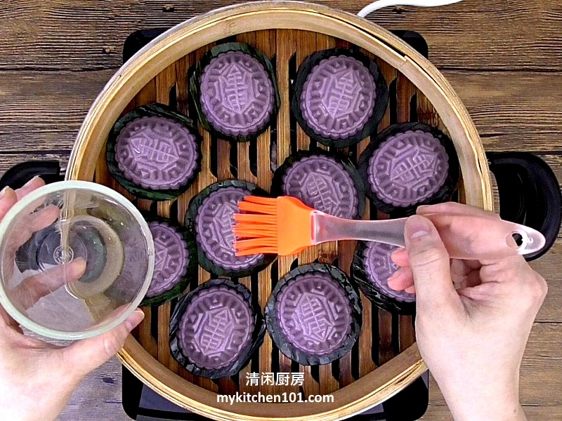 咸绿豆馅紫薯红龟糕