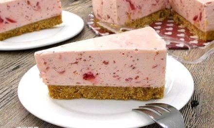 草莓优格免考芝士蛋糕