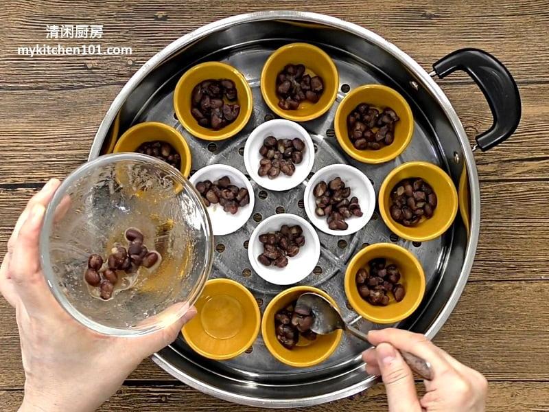 用白米制作红豆砵仔糕