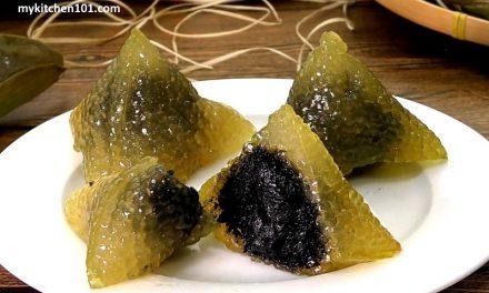黑芝麻馅水晶碱水粽