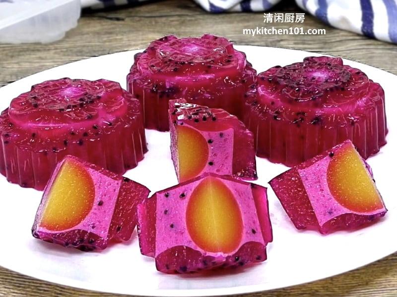 火龙果agar-agar月饼