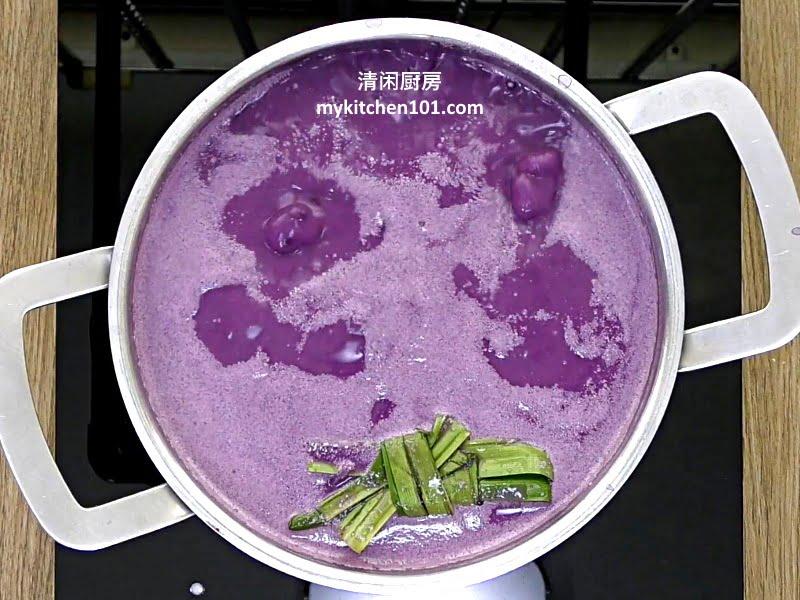 紫薯椰奶沙谷糖水