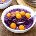 紫薯西米露 + 橙薯粉圆 (地瓜圆)