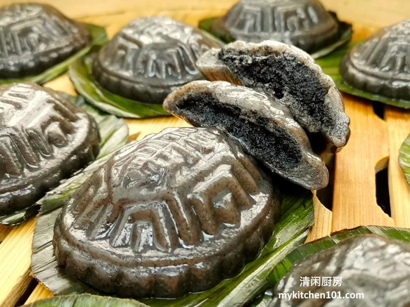 黑芝麻红龟糕