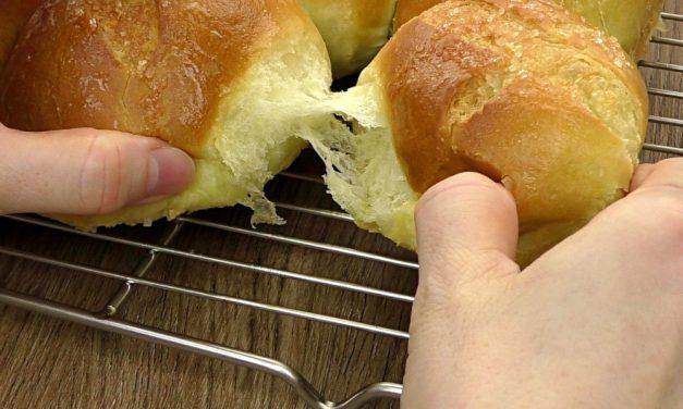 松软香兰面包(小餐包) – 面包机揉面
