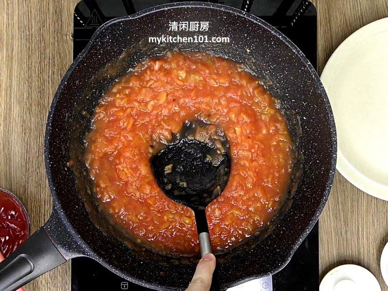 番茄鸡肉酱意大利面