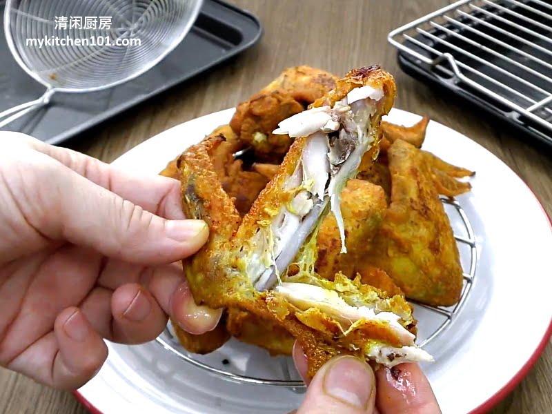 用黄姜粉炸鸡翼