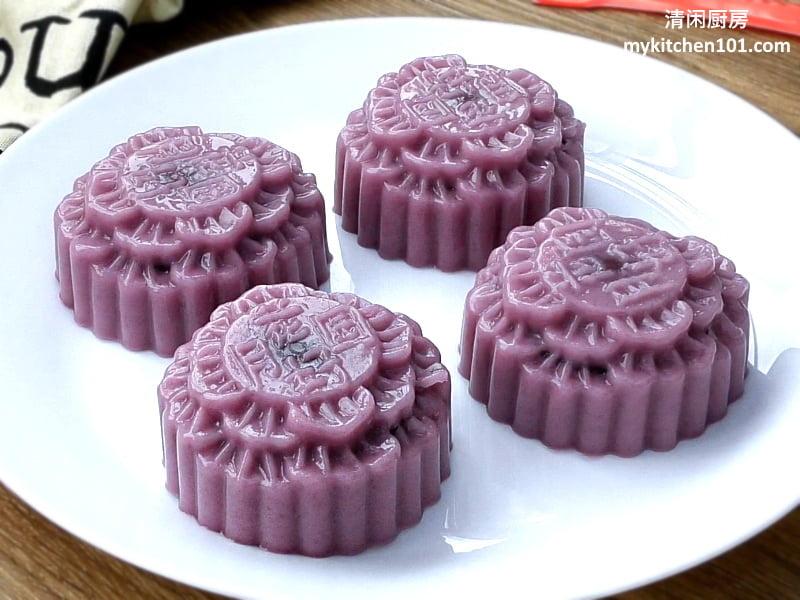 如何用紫薯制作燕菜月饼