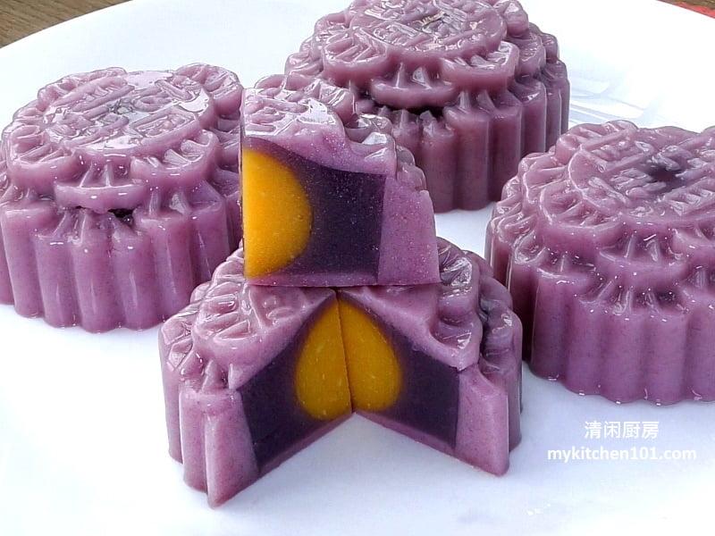 紫薯燕菜月饼