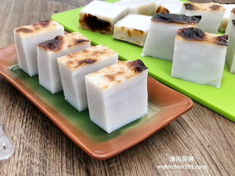 粘米粉版Kuih Bengkang/肥猪肉/猪油糕