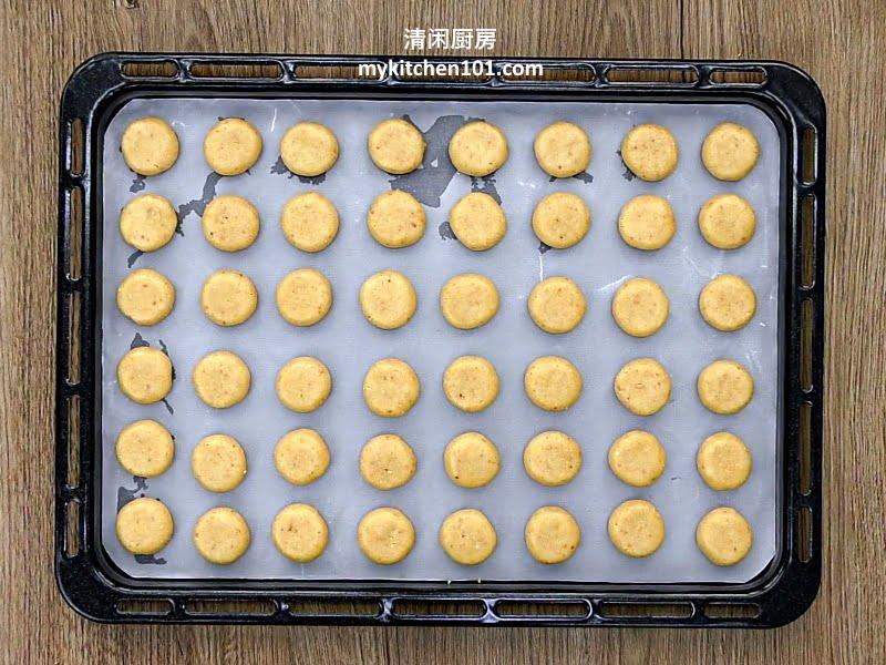 用牛油制作杏仁饼