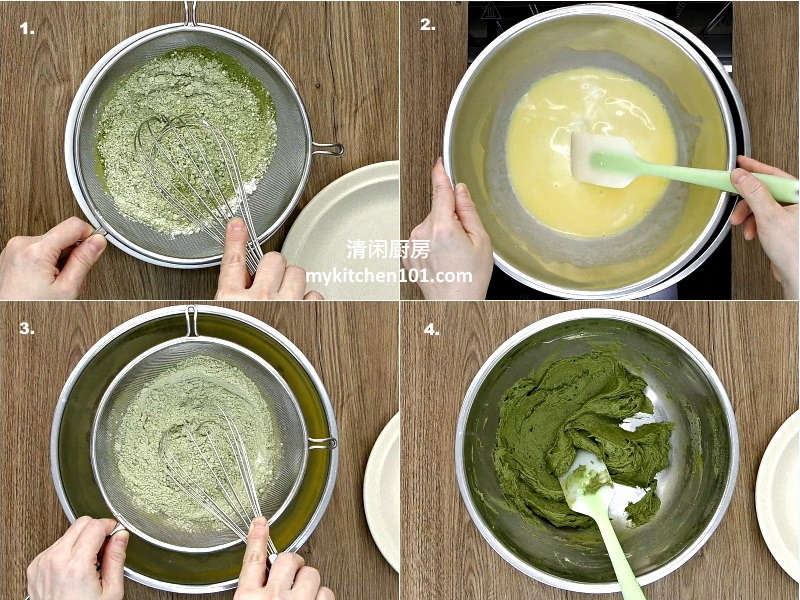 棉花海绵蛋糕抹茶口味