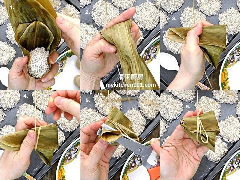 芋泥馅沙谷西米水晶碱水粽